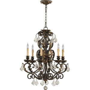 Rio Salado Six-Light Toasted Sienna with Mystic Silver Chandelier