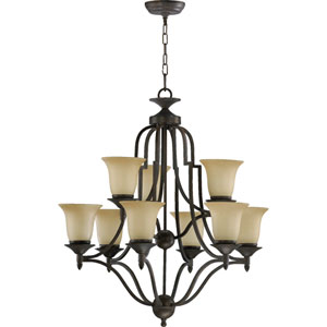 Coventry Nine-Light Toasted Sienna Chandelier