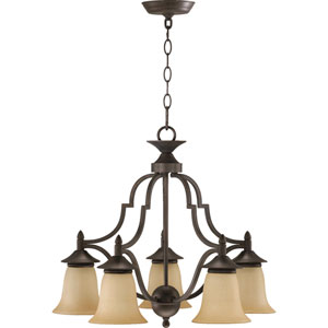 Coventry Five-Light Toasted Sienna Chandelier