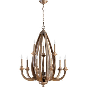 Telluride Early American 37-Inch Nine Light Chandelier