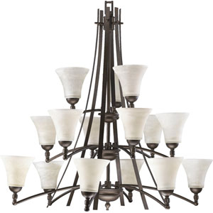 Aspen Fifteen-Light Oiled Bronze Chandelier