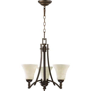 Aspen Three-Light Oiled Bronze Chandelier