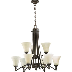 Aspen Nine-Light Oiled Bronze Chandelier