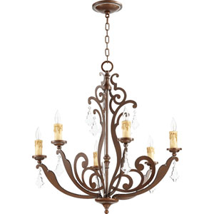 Montgomery Vintage Copper 28-Inch Six-Light Chandelier