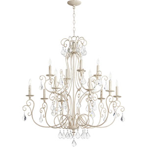 Ariel Persian White Twelve-Light 35-Inch Chandelier