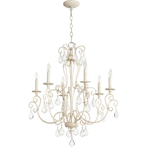 Ariel Persian White Six-Light 27-Inch Chandelier