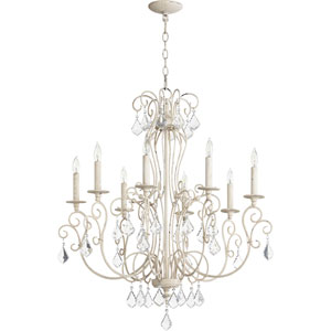 Ariel Persian White Eight-Light 30-Inch Chandelier