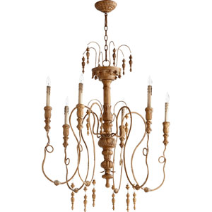 Salento French Umber 39.25-Inch Six Light Chandelier