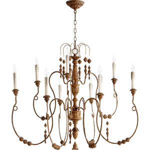 Salento French Umber 32-Inch Nine Light Chandelier