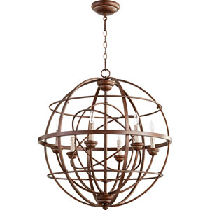 Salento Vintage Copper 27-Inch Six-Light Globe Pendant
