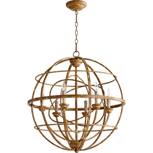 Salento French Umber 29-Inch Six Light Chandelier