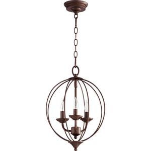 Flora Oiled Bronze Three-Light 13-Inch Pendant