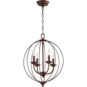 Flora Oiled Bronze Four-Light 15-Inch Pendant