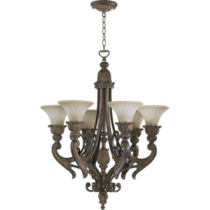 Madeleine Six-Light Corsican Gold Chandelier