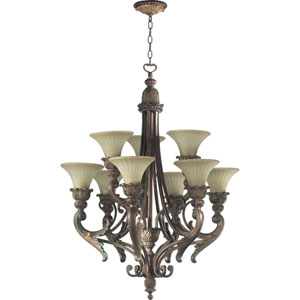 Madeleine Nine-Light Corsican Gold Chandelier