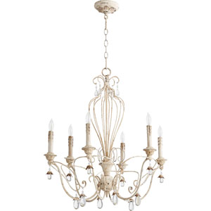 Venice Persian White 26-Inch Six-Light Chandelier