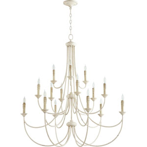 Brooks Persian White 43-Inch 15-Light Chandelier