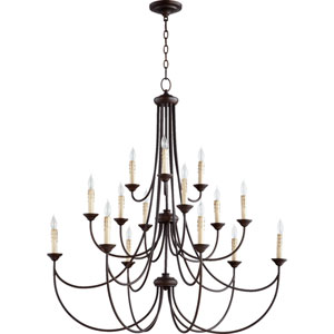 Brooks Oiled Bronze 43-Inch 15-Light Chandelier