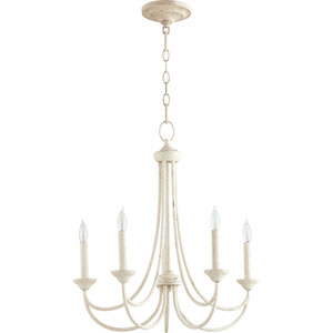 Brooks Persian White 22-Inch Five-Light Chandelier
