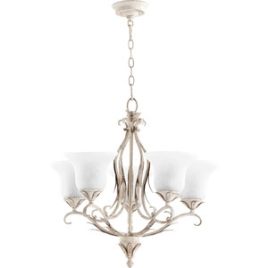 Flora Persian White 24-Inch Five-Light Chandelier