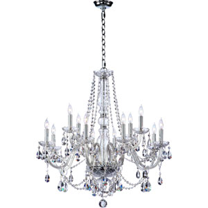 Bohemian Katerina Twelve-Light Chrome Chandelier