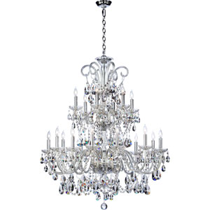 Bohemian Katerina Eighteen-Light Chrome Chandelier