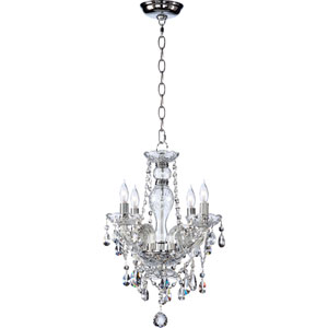Bohemian Katerina Four-Light Chrome Chandelier