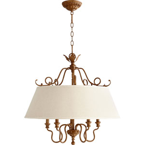Salento French Umber 25.5-Inch Five Light Chandelier