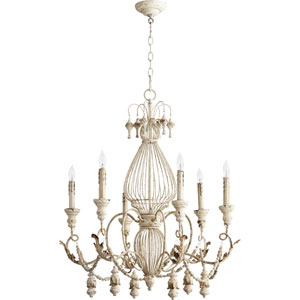 Salento Persian White 32-Inch Six Light Chandelier