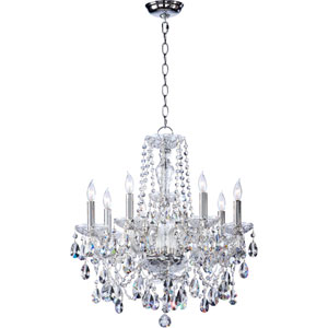Bohemian Katerina Eight-Light Chrome Chandelier