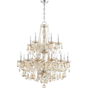 Bohemian Katerina Chrome 32-Inch 18-Light Chandelier