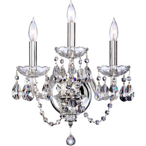 Bohemian Katerina Three-Light Chrome Sconce