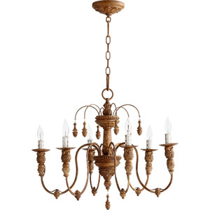 Salento French Umber 20-Inch Six Light Chandelier