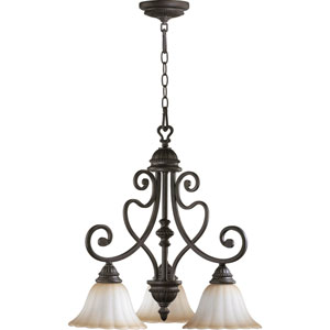 Summerset Three-Light Toasted Sienna Chandelier