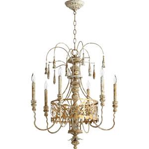 Leduc Florentine Gold 23-Inch Six-Light Chandelier