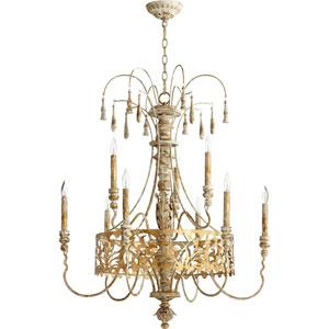 Leduc Florentine Gold Nine-Light Chandelier