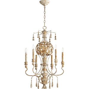 Leduc Florentine Gold 21-Inch Six-Light Chandelier