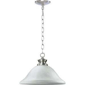 Madison One-Light Satin Nickel Pendant