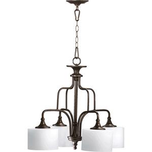 Rockwood Oiled Bronze Four-Light Downlight Chandelier
