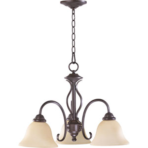 Spencer Three-Light Toasted Sienna Chandelier