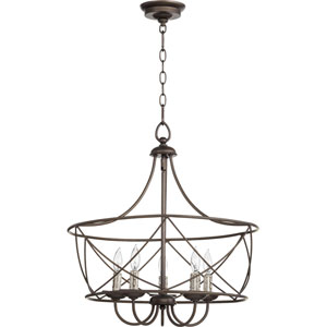 Cilia Oiled Bronze Five-Light Chandelier