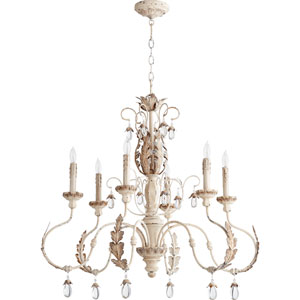 Venice Persian White 32-Inch Six-Light Chandelier