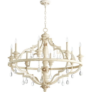 Venice Persian White 37-Inch Eight-Light Chandelier