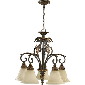 Rio Salado Five-Light Toasted Sienna with Mystic Silver Chandelier
