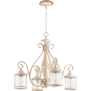 San Miguel Persian White Four-Light 27-Inch Chandelier