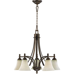 Aspen Five-Light Oiled Bronze Chandelier