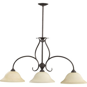 Spencer Three-Light Toasted Sienna Island Pendant