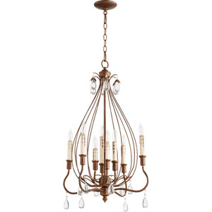 Venice Vintage Copper 20-Inch Eight-Light Chandelier