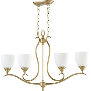 Flora Aged Brass Four-Light 6-Inch Island Pendant