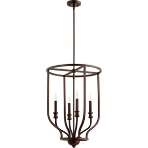 Richmond Oiled Bronze Four-Light 18-Inch Pendant